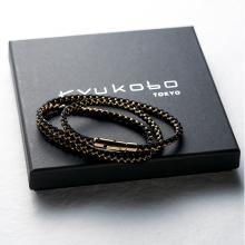Three-Layered Kumihimo Bracelet Sumi (charcoal)