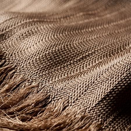 Stole – KUMIHIMO, beige, large, silk, kimono, dress, flat-braid, Ryukobo, Tokyo Japan, traditional handmade crafts, souvenir, gift, order-made