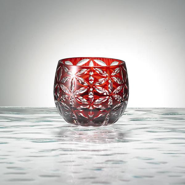 Guinomi (large sake cup)  Asa no Ha  kurenai (deep red)
