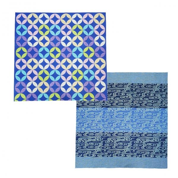 Furoshiki Kanzesui and Shippo (blue) Set
