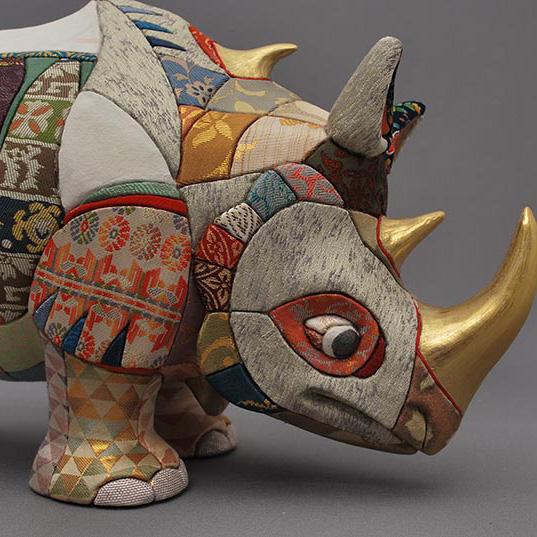 Wooden dolls,dolls,rhinoceros, ornaments,Albrecht Dürer print blocks,homage,Tokyo,Japan,Traditional craftwork,handmade,souvenir, gift,Big