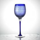 Kome tsunagi (rice links) Wine Glass  lapis lazuli (blue)